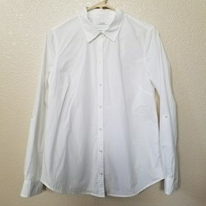 Charter Club Relaxed Fit White Button Up Shirt